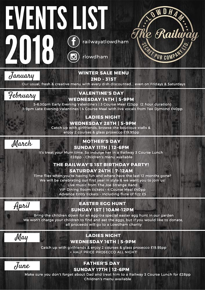 Events List 2018 page 1