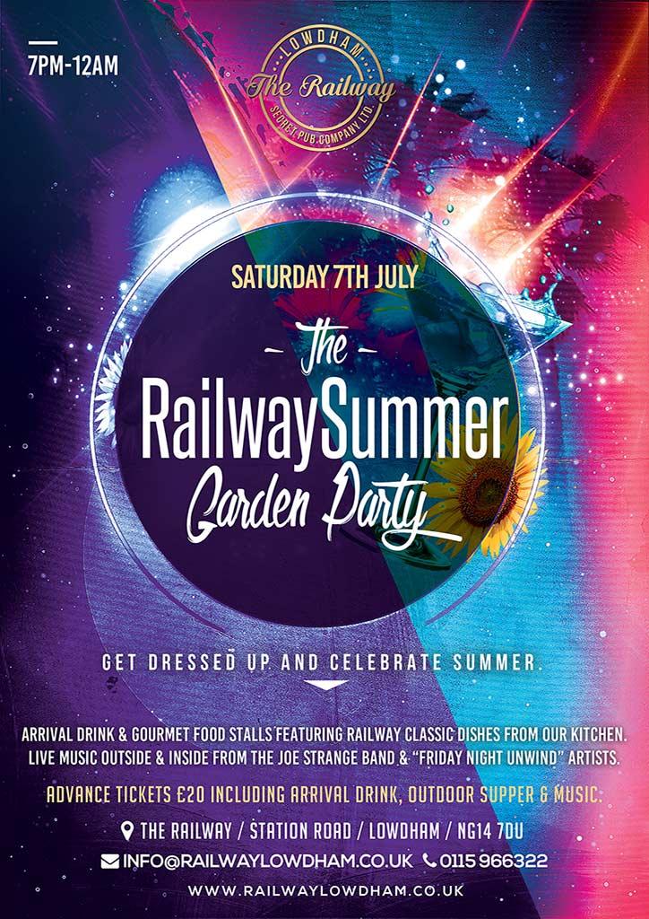 Summer Garden Party Railway Lowdham